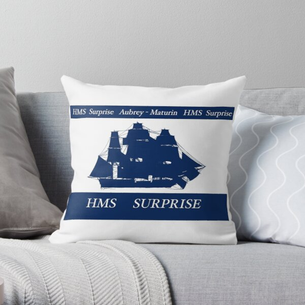 HMS Surprise by Fernandes Throw Pillow