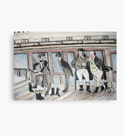 Mr pickwick and friends Canvas Print