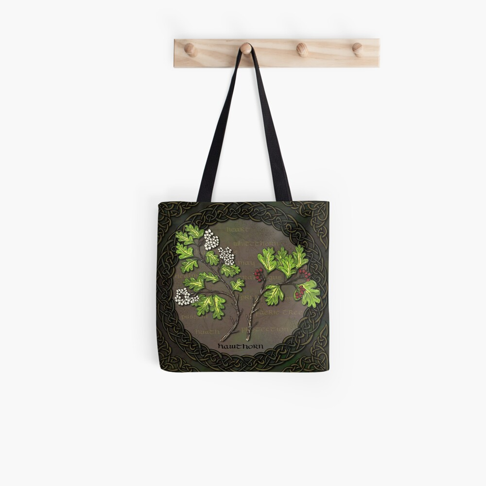 Celtic Hawthorn Tote Bag