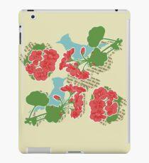Geraniums and Blue Jays iPad Case/Skin
