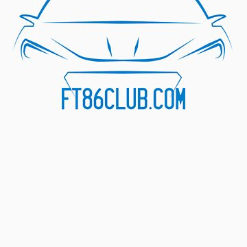 FT86CLUB BRZ Decal in BLUE by Snoopyalien24