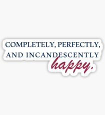 Happy - Pride & Prejudice Sticker