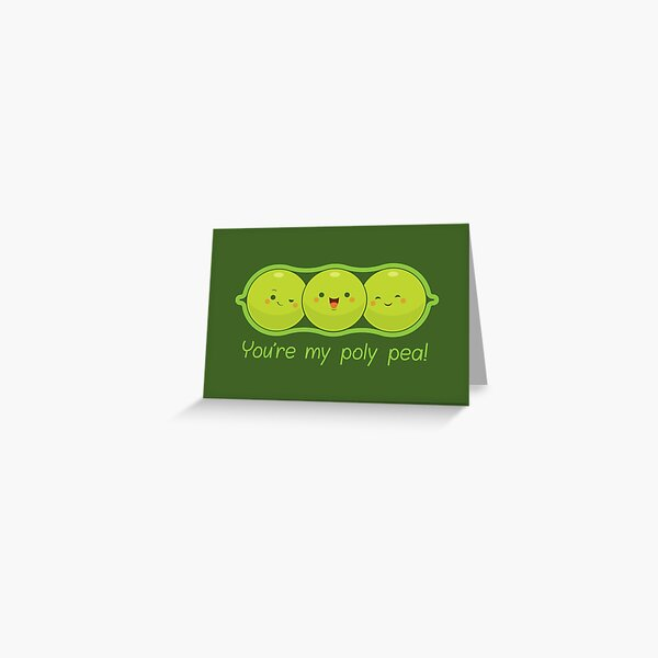 Poly Peas Greeting Card