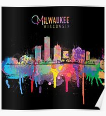 Milwaukee Skyline Poster