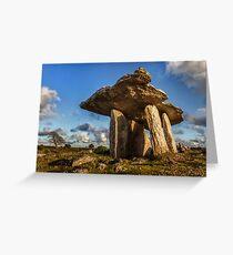 Poulnabrone dolmen the Burren, County Clare, Ireland. Greeting Card