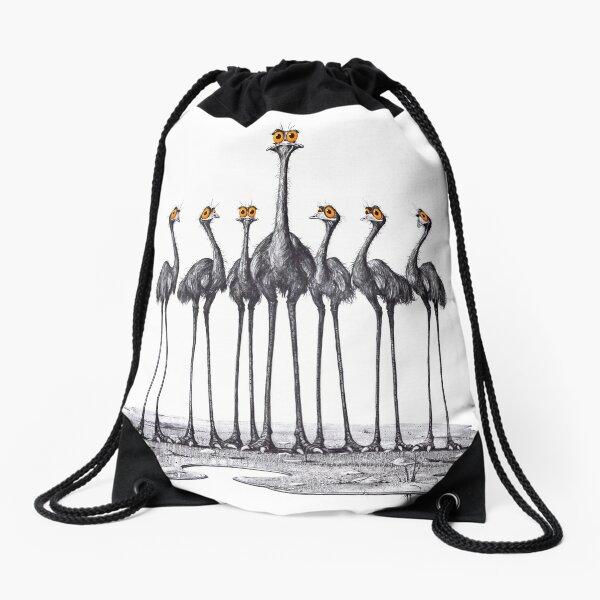 A Longneck and Six Stubbies (White) Drawstring Bag