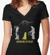 Bringing Up Baby Shirt Women's Fitted V-Neck T-Shirt