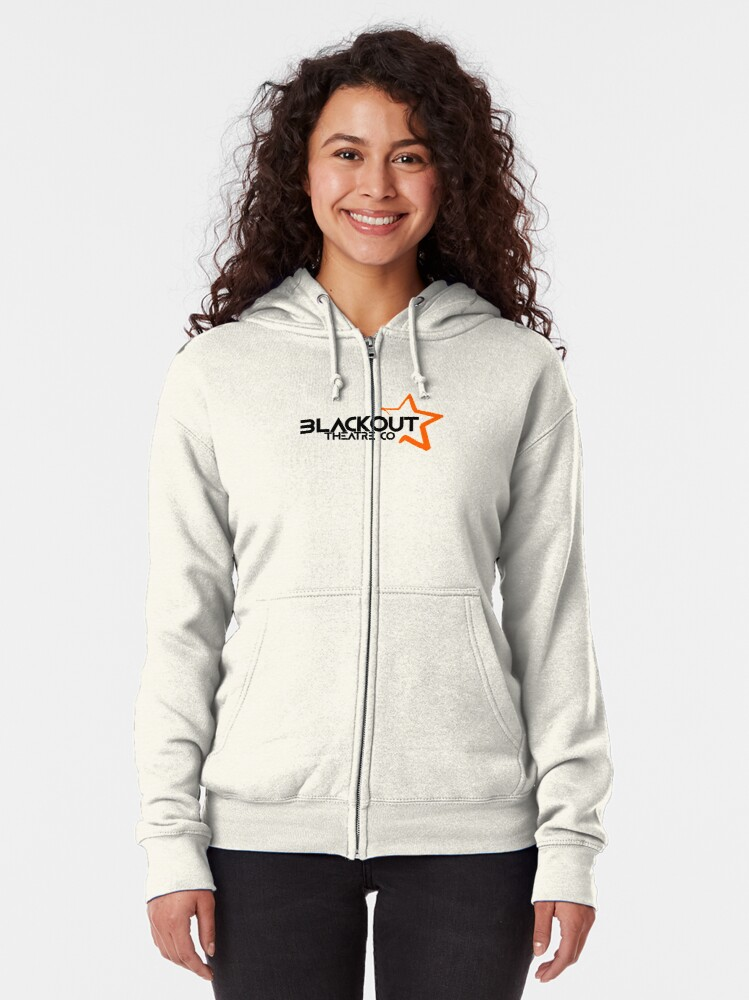 Alternate view of Blackout Theatre Company Logo (Black Print) Zipped Hoodie