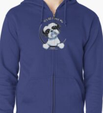 Black/White Shih Tzu :: It's All About Me Zipped Hoodie