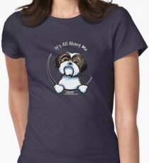 Brown/White Shih Tzu :: It's All About Me Womens Fitted T-Shirt