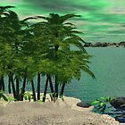 Palm Trees Along the Shore by Norma Jean Lipert