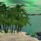 Palm Trees Along the Shore von Norma Jean Lipert