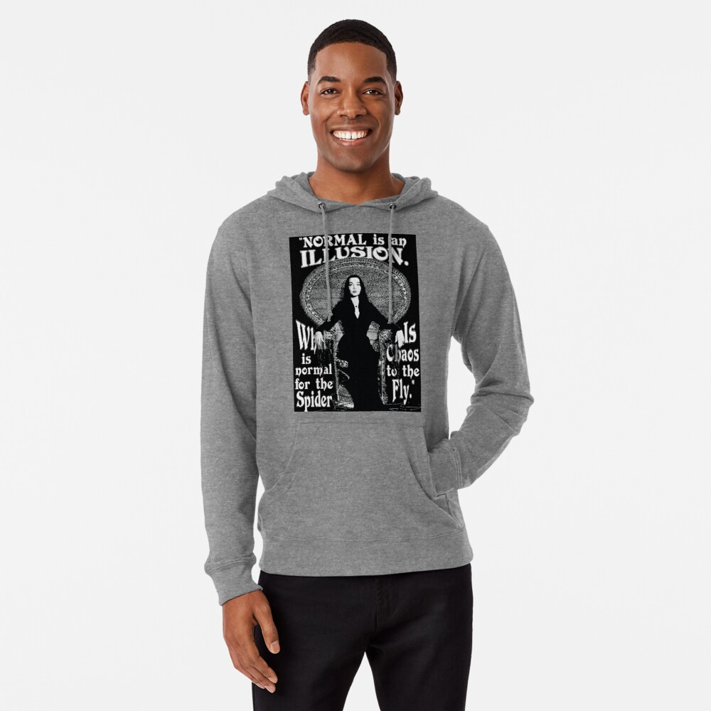 "Morticia Addams-""Normal Is An Illusion..."" Lightweight Hoodie"