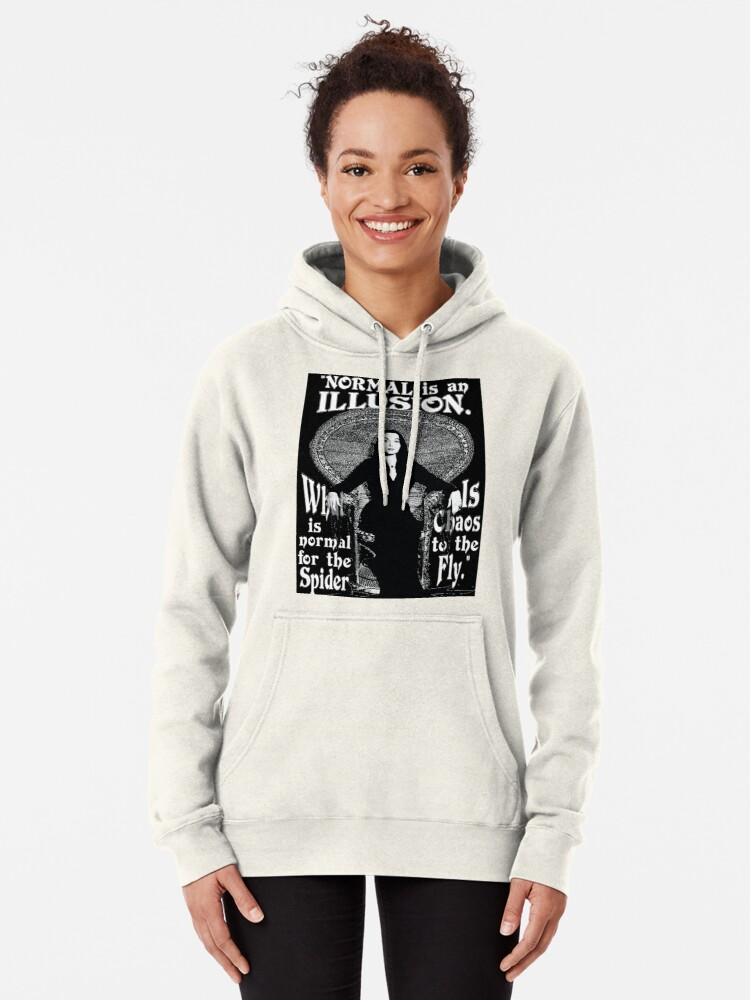 """Alternate view of Morticia Addams-""""Normal Is An Illusion..."""" Pullover Hoodie"""