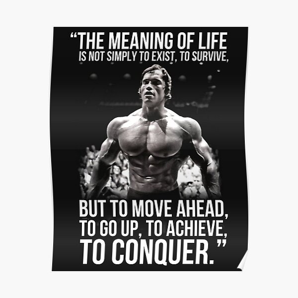 The meaning of life - Arnold Schwarzenegger (HD) Poster