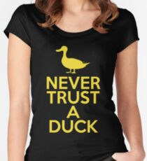 Never Trust A Duck Women's Fitted Scoop T-Shirt