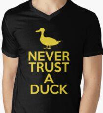 Never Trust A Duck Men's V-Neck T-Shirt
