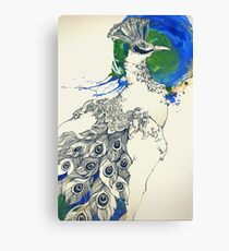 The pride of the peacock Canvas Print