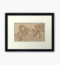 XVII century clothing Framed Print