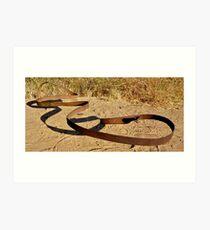 Metal Snake Art Print