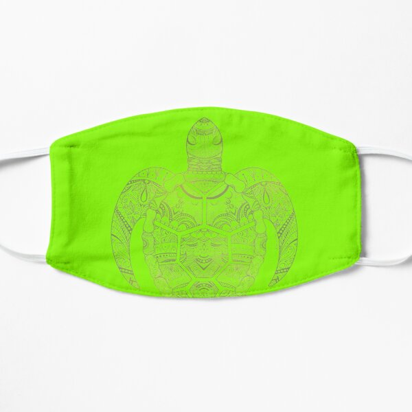 Turtle Mandala (Colorful Edition) Flat Mask