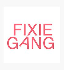 Fixie Gang - pink Photographic Print