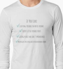 Perfect One Direction Long Sleeve T-Shirt