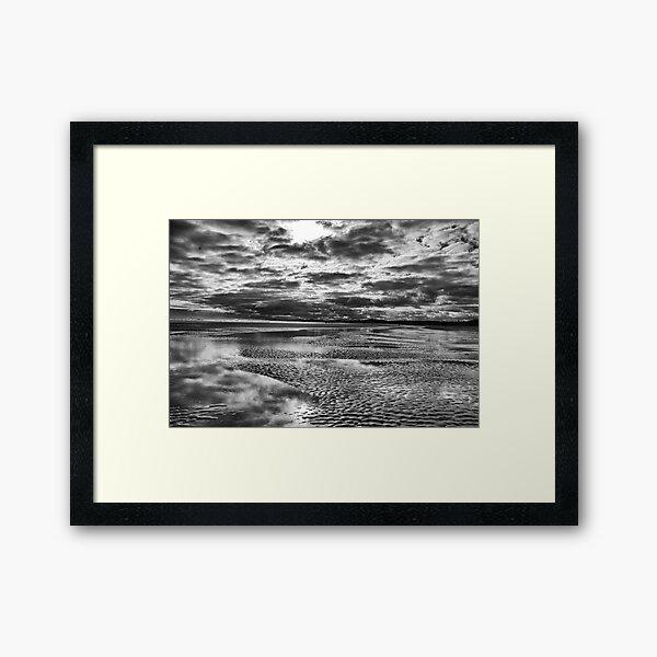 Beach storm Framed Art Print
