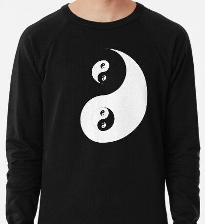 Ying Yang White Lightweight Sweatshirt