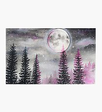 Magical Moon - Watercolor  Photographic Print