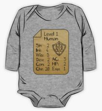 Body de manga larga para bebé Level 1 - Human [only for Nerd Babies]