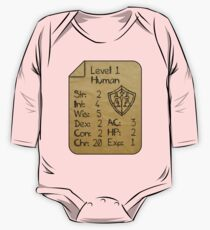 Level 1 - Human [only for Nerd Babies] One Piece - Long Sleeve