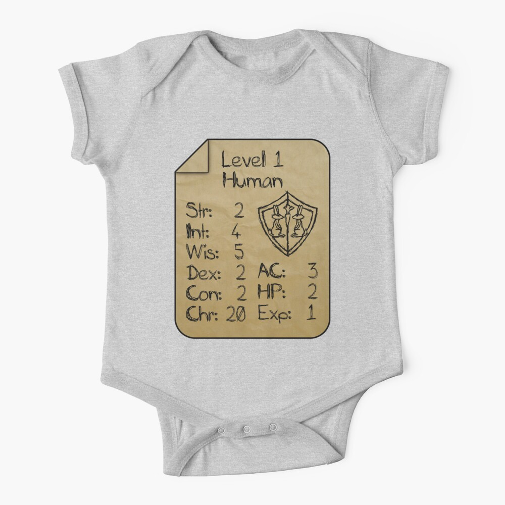 Level 1 - Human [only for Nerd Babies] Baby One-Piece