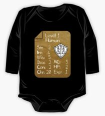 Level 1 - Human [only for Nerd Babies] -Original Colors One Piece - Long Sleeve