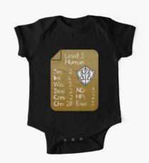 Level 1 - Human [only for Nerd Babies] -Original Colors Short Sleeve Baby One-Piece