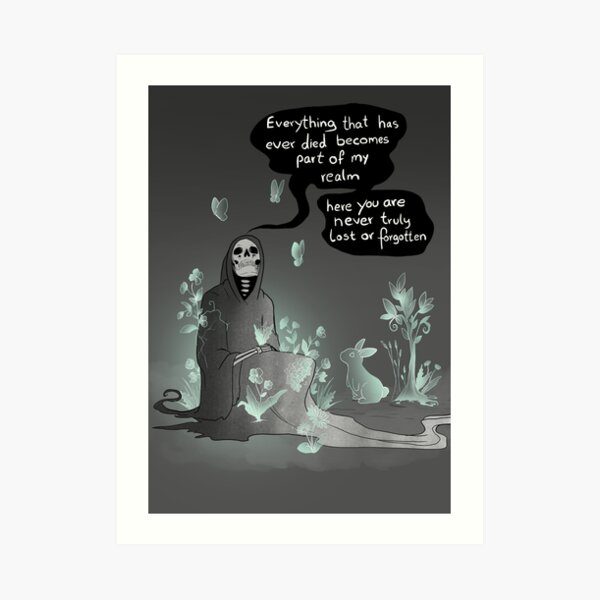 Never lost (text version) Art Print