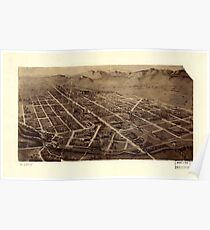 Panoramic Maps Fort Collins Colorado 2 Poster