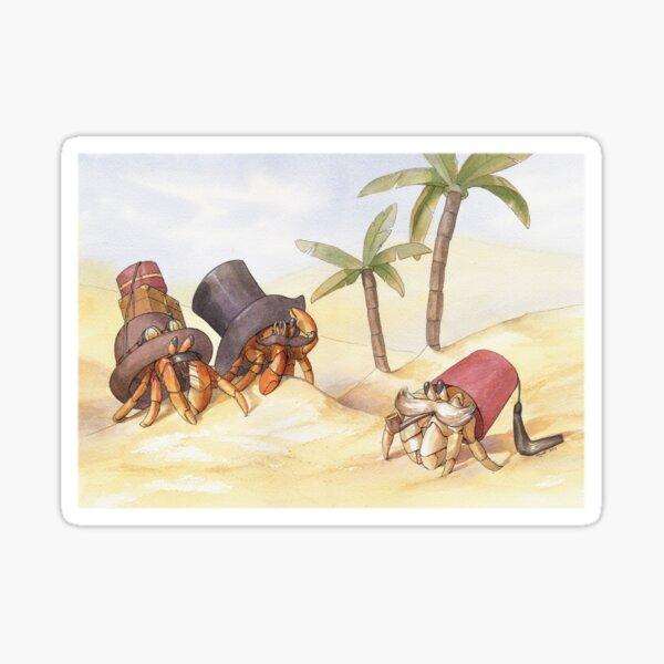 Victorian Hermit Crabs Sticker