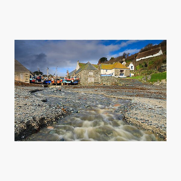 Stream view (Cadgwith) Photographic Print