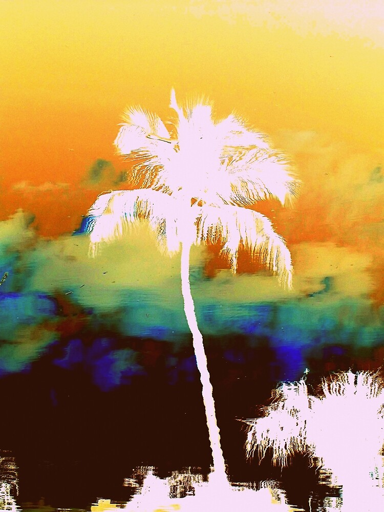 Watercolors~Palm Tree by Carla Barone