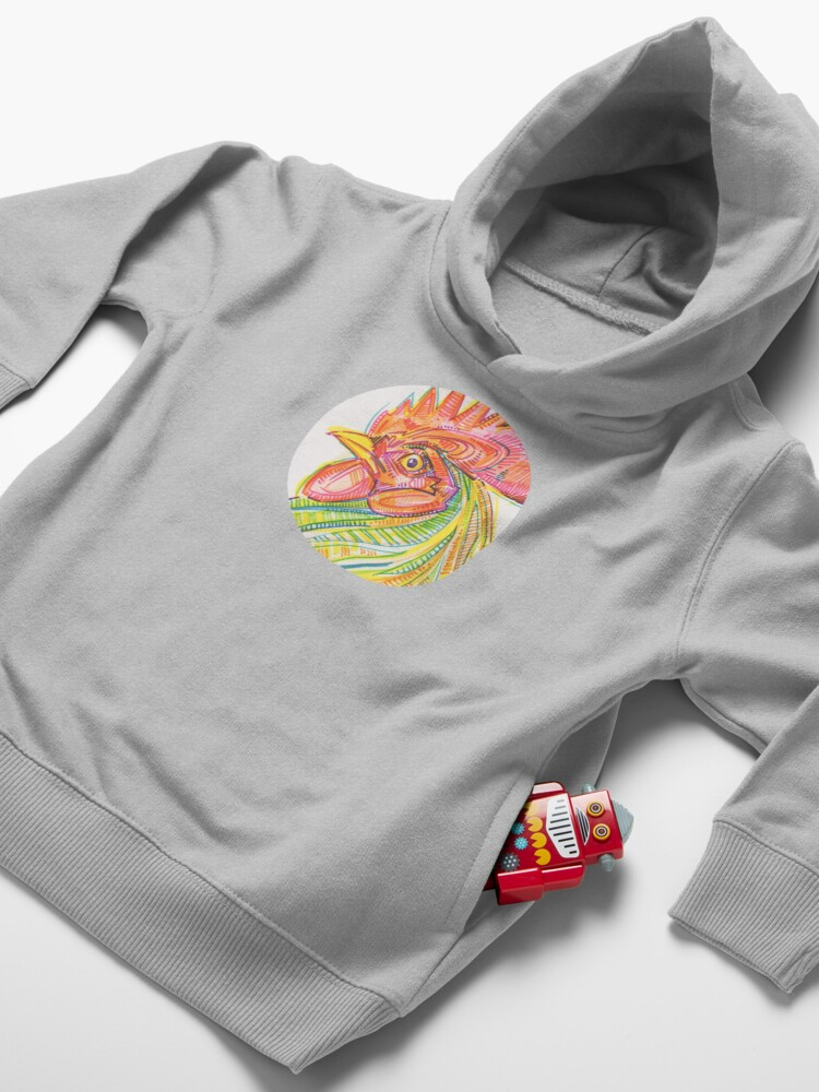 Alternate view of Rooster Drawing - 2017 Toddler Pullover Hoodie