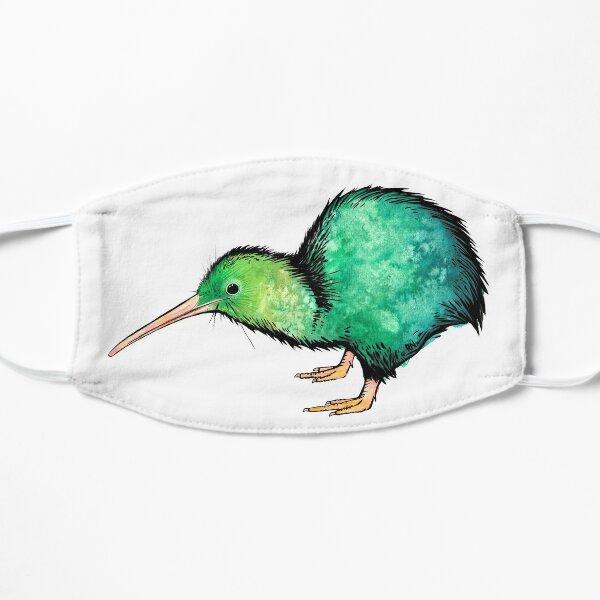 Cute Kiwi - Watercolour Art Flat Mask