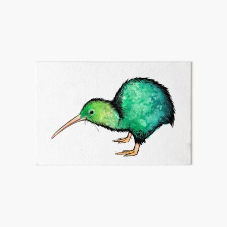 Cute Kiwi - Watercolour Art Art Board Print
