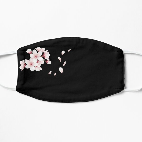 Jasmine flower in mask, sakura tree Mask