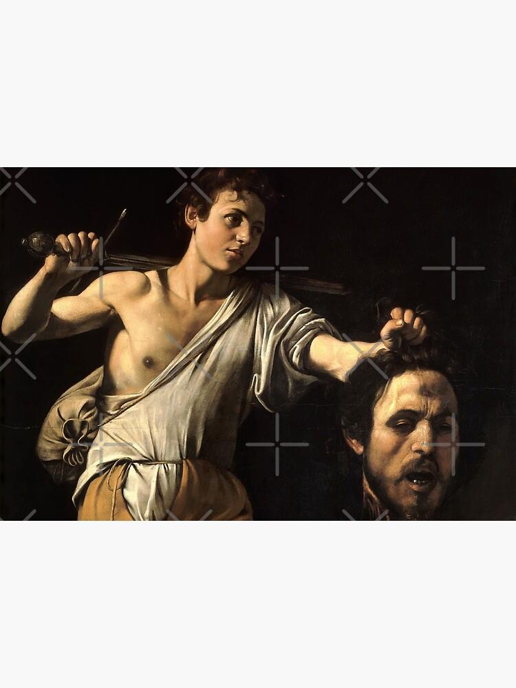 David Against Goliath - Pray For Paris - caravaggio by streetculte