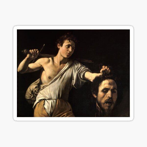 David gegen Goliath - Bete für Paris - Caravaggio Sticker
