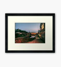 Canal and Tesco from Castle Street, Kidderminster Framed Print