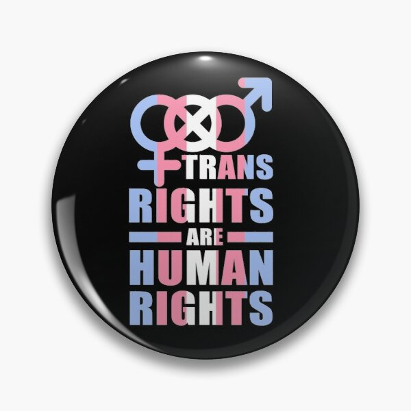 Trans rights are human rights LGBT Pride parade transgender non-binary queer pansexual Pin