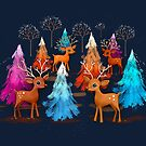 Happy Christmas Trees by © Karin Taylor