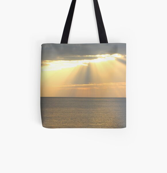 Sunset over the sea All Over Print Tote Bag